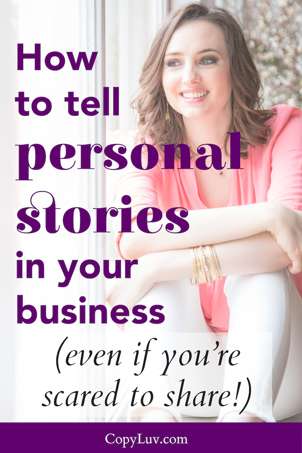How to tell personal stories in your business (even if you're shared to share!)